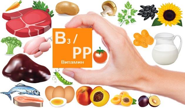 Витамин РР ниацин никотиновая кислота в каких продуктах содержится