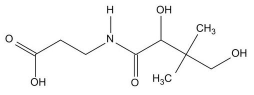 Витамин В5 (пантотеновая кислота) формула