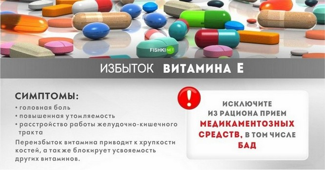 Витамин Е токоферол передозировка